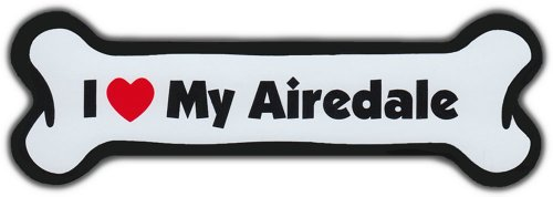 I Love My Airedale Terrier - Car Bone Magnet ()