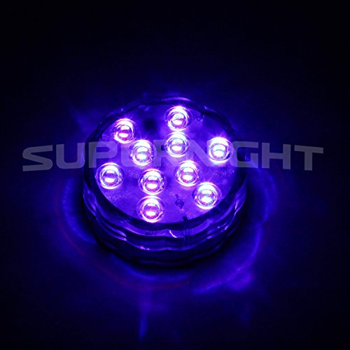 binzet ir remote controlled rgb submersible led lights aa battery operated led. Black Bedroom Furniture Sets. Home Design Ideas