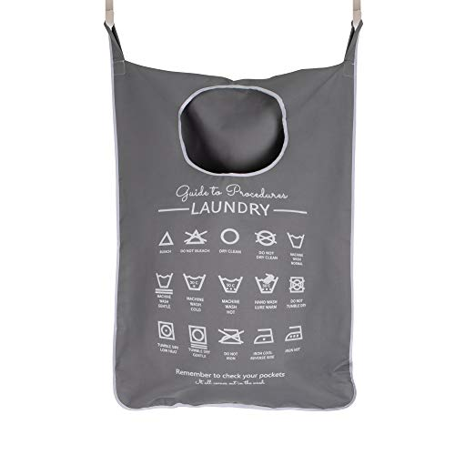 Hanging Laundry Hamper Bags  with  Wash Bag for Delicates, Bras - Large Door Hampers  for  Dirty Clothes - Clothing Storage  and  Washing Baskets with Hooks - Portable, Space Saving