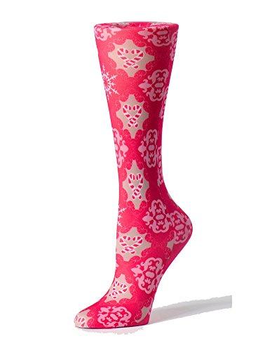 Cutieful Women's Nylon 8-15 Mmhg Compression Sock Candy Canes