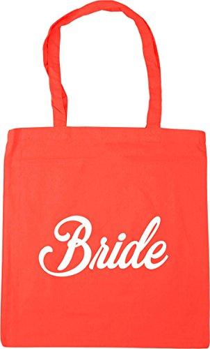 HippoWarehouse Bride Gym Coral Shopping Tote 42cm Beach Bag litres 10 x38cm rrwqdZ