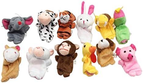 子供 手指人形セット 漫画 ぬいぐるみ 動物 教育玩具 知育玩具 12個入り