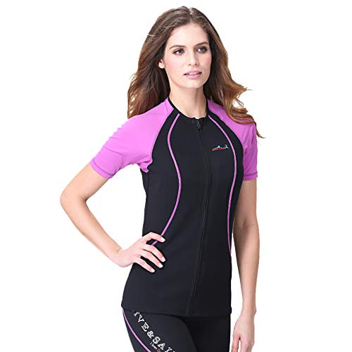 Allywit Women 1.5MM Neoprene Thermal Winter Diving Wetsuit Winter Swimming Surfing Purple by Allywit (Image #4)