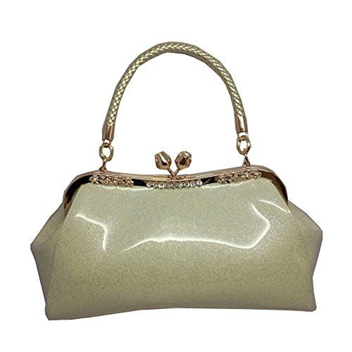 Hope Women Handbags For Women SilverGrey Soirée Pochette Mariée En Cuir