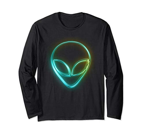 Cute Alien Face Halloween Costume 2018 Long Sleeve LS Shirt