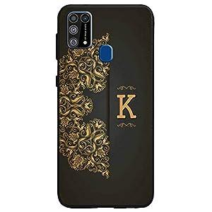 Amazon Brand – Solimo Designer Black Pattern Alphabet-K Printed Soft & Flexible Hybrid Back Case Mobile Cover for…