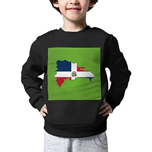AW-KOCP Children's Flag Map of Dominican Republic Sweater Baby Boys Sweatshirt