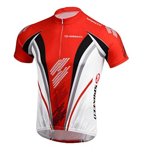 Men's Cycle Jersey Biking Tshirt Cycling Jacket Short Sleeve Tops Size S US Red (Jersey Cycling T-shirt)
