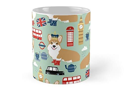 SeaZTh Mug Corgi pattern london welsh corgi british anglophile cute dog breed art by pet friendly Mug - 11oz Mug - Made from Ceramic - Best gift for family friends