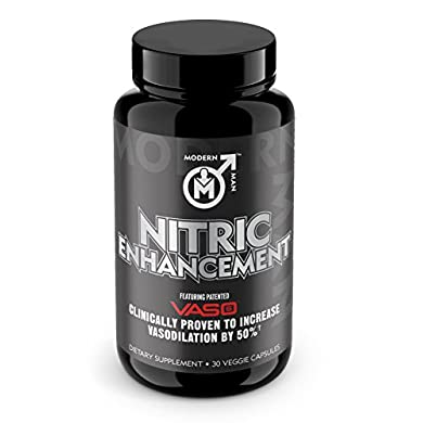 Nitric-Oxide-Enhancement-by-Modern-Man–Pump-Enhancing-Alpha-Male-Booster-for-Men-Yohimbine-HCL-Horny-Goat-Weed-Maca-Root-Increase-Size-Strength-Stamina-Muscle-Gain-Supplement-30-Pills
