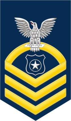 US Navy Chief Gold E-7 Master at Arms MA Military Veteran Served Window Bumper Sticker Vinyl Decal 3.8