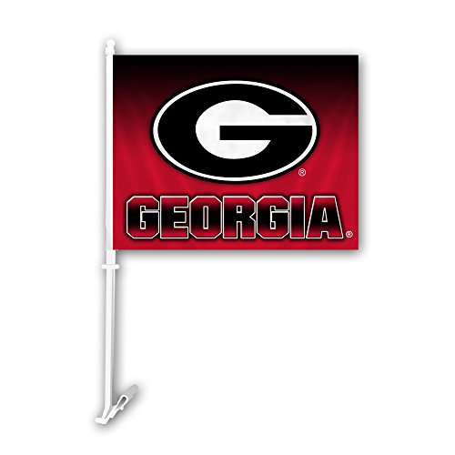 Fremont Die NCAA Georgia Bulldogs Ombre Design Car Flag, 11