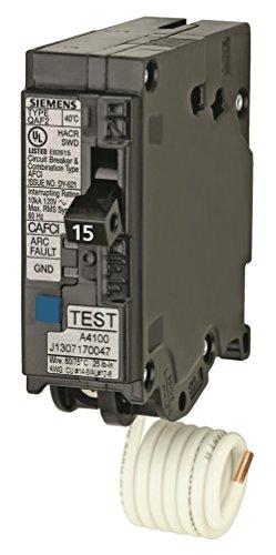 Siemens QA115AFCP 15-Amp Single Pole 120-volt Plug-On Com...