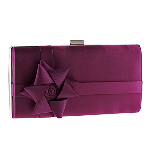 argent pour Pochette moyen Silver femme violet Flada Tt7qn5wxHt