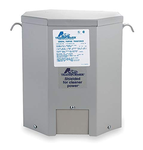 - Acme Electric Wall-Mount 120/208/240/277VAC General Purpose Transformer, 15kVA, 120/240VAC Output Voltage - T279747S
