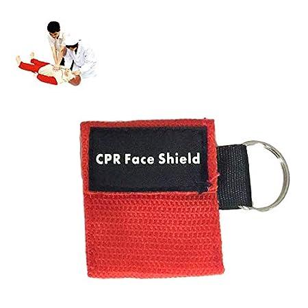 Matthew00Felix Máscara de Primeros Auxilios RCP Mini Llavero/Cara de Barrera Kit de Cuidado de la Salud