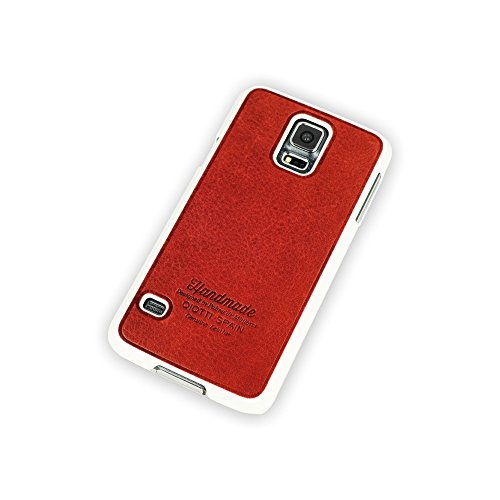 QIOTTI Q. Book Denim 2 en 1 livret Étui en cuir véritable pour Samsung Galaxy S5/S5 Neo – Magic Line Rouge