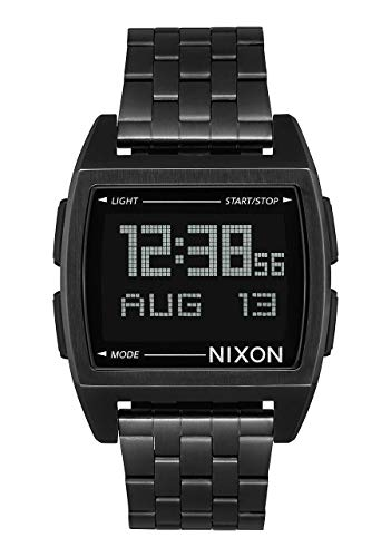 NIXON Base A1108 - All Black - 101M Water Resistant Men's Digital Fashion Watch (38 mm Watch Face, 21 Stainless Steel Band)