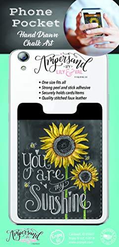 Enjoy It Lily & Val My Sunshine Phone Pocket - Peel and Stick Phone Wallet Credit Card Holder for Smartphones
