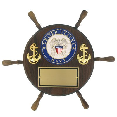 (Awards and Gifts R Us Customizable 13 inch Diameter United States Navy Shipwheel Plaque, Includes Personalization)