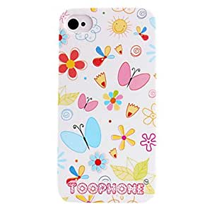 Joyland Brief Strokes Butterfly ABS Back Case for iPhone 4/4S(Assorted Color) , White