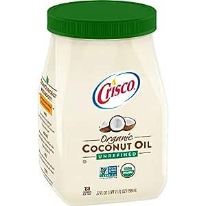 Amazon.com : Crisco Unrefined Organic Coconut Oil, 27 ...
