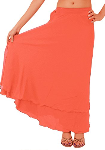 SnS Beach Long Moss Crepe Evening Wraparound Skirt