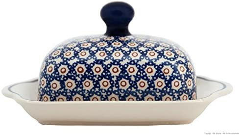 Original Bunzlauer Keramik Butterdose für 1 Stück Butter 250g Dekor 41