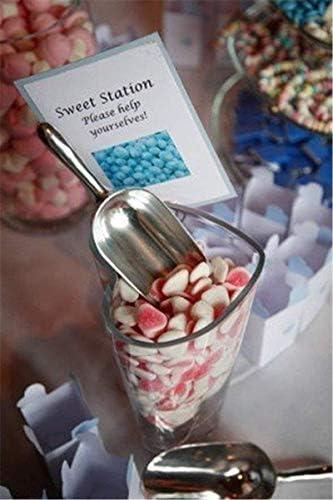 Renquen Servierzange Lebensmittelschaufel Edelstahl Eiszange für Supermarkt Süßigkeiten Kaffee Eis Bucket Bar Küche Hochzeit