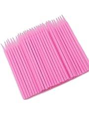 100pcs Disposable Micro Applicator Brushes Eyelash Extension Swabs pink Stylish and Popular Fashion