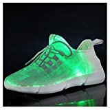 callm New Summer Led Fiber Optic Shoes for Girls Boys Men Women USB Charging Glowing Sneakers Man Light Up Shoes