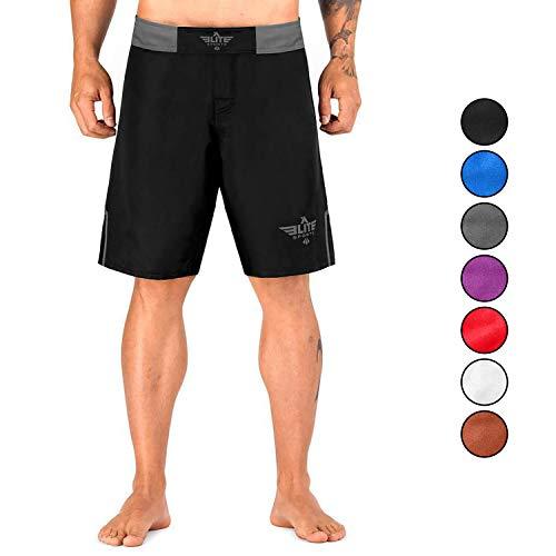 Elite Sports NEW ITEM Black Jack Series Fight Shorts,Gray,Small