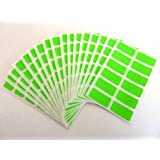 200 étiquettes, 25X12mm rectangle, vert citron, COULEUR CODE STICKERS, auto-adhésif en couleur étiquettes
