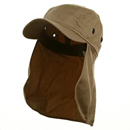 Flap Hat (03)-Khaki one size W15S46D