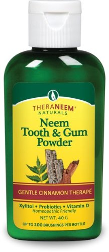 TheraNeem Tooth & Gum Powder-Cinnamon by Organix South 40 grams.(2 pack) ()