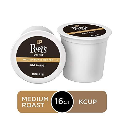 Peet's Coffee Big Bang K-Cup Coffee Pods for Keurig Brewers, Medium Roast, 16 Pods
