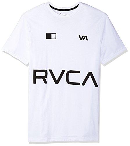 - RVCA Men's Banner Short Sleeve T-Shirt, White, L