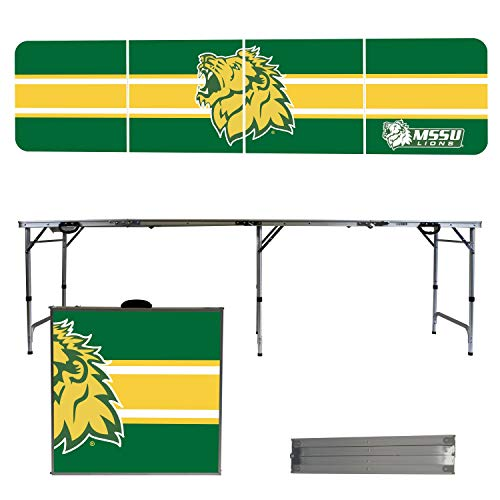 (Victory Tailgate NCAA Missouri Southern State University 8'x2' Foldable Tailgate Table with Adjustable Hight and Spill Resistant Sealant - Stripe Series )