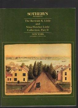 Bertram K. Little & Nina Fletcher Little Collectionb, Part II,, October 21 & 22, 1994 , auction catalog