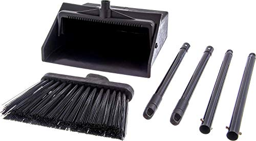 Carlisle 36141503 Duo-Pan Dustpan & Lobby Broom Combo, 3 Foot Overall Height, Black (Fоur Paсk) by Carlisle (Image #2)