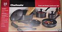 Chefmate 10 piece Cook and Strain Cookware Set