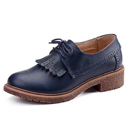 Zapatos de mujer casual de primavera/Las mujeres los zapatos de cuero plano/escoge los zapatos/Zapatos de mujer de Inglaterra/Plano luz zapatos B