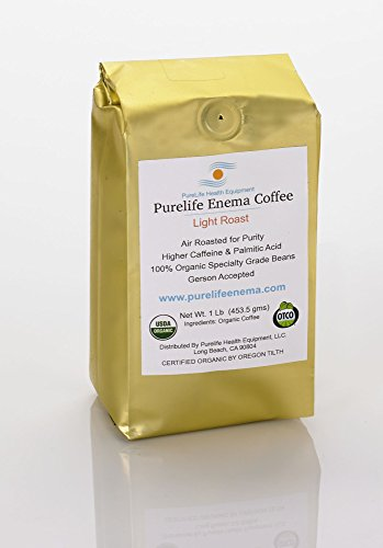 "PureLife Enema Coffee - 1 Lb - Mold Free Organic Light ""Air"""