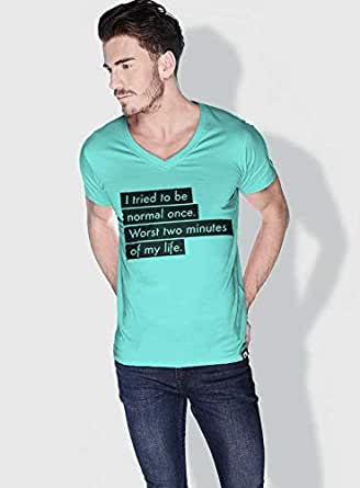 Creo I Tried To Be Normal Once Funny T-Shirts For Men - L