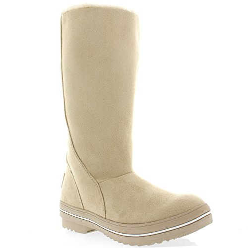 Polar Products Womens Original Tall Suede Rubber Sole Winter Snow Rain Boots Beige GmeiEAT