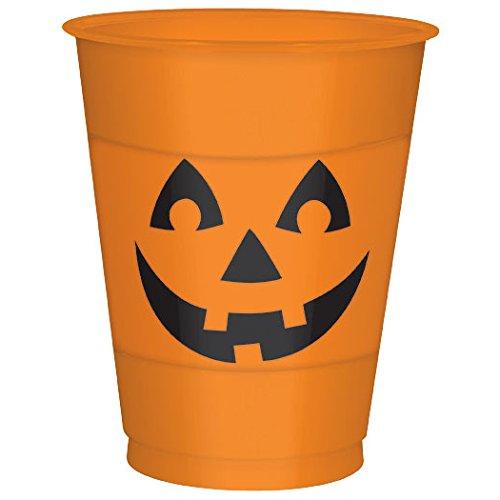 16oz Jack O Lantern Plastic Cups (25 ct)