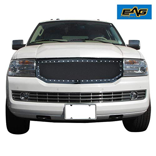 EAG Rivet Stainless Steel Wire Mesh Grille Fit for 2007-2014 Lincoln Navigator ()