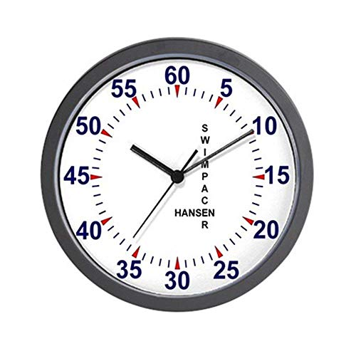 47BuyZHJX Swim Pace Clock - Unique Decorative Large 12 in Round Wall Clock