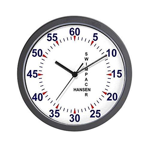 47BuyZHJX Swim Pace Clock - Unique Decorative Large 12 in Round Wall - Pace Swim Clocks