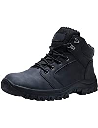Men's Snow Boots Winter Warm Ankle Outdoor Hiking Insulated Cold Weather Boots